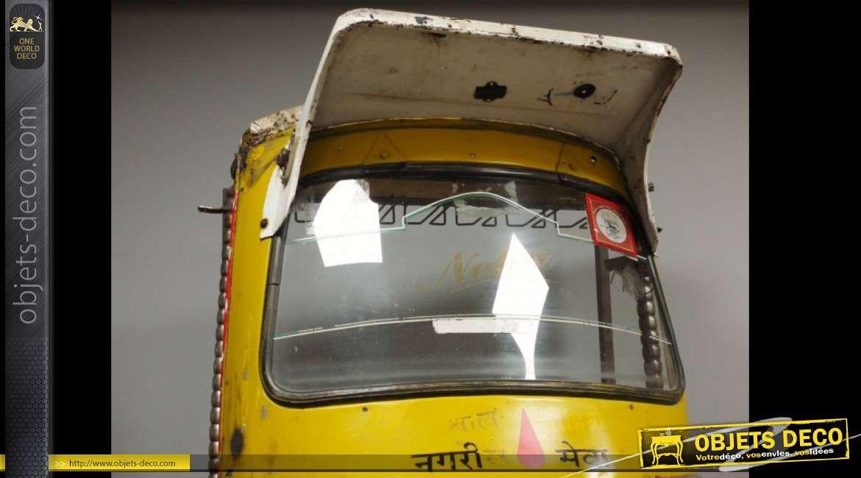 Meuble bar véritable pousse-pousse motorisé indien recyclé