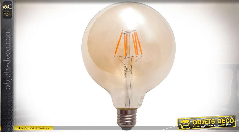 Ampoule globe Ø 12 cm LED à incandescence type Edison 8 watts 2200°K 630 lumens