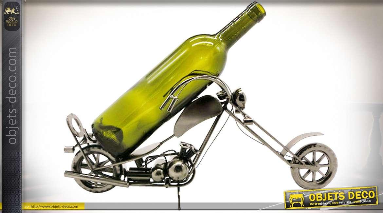 Porte-bouteille moto chopper en métal 43 cm