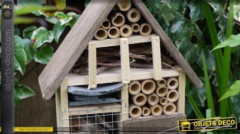 grand h tel insectes en bois et mat riaux naturels 50 cm. Black Bedroom Furniture Sets. Home Design Ideas