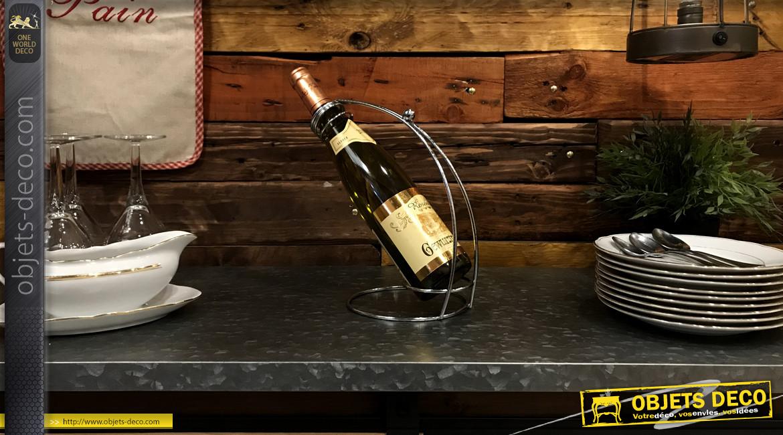 Support verseur pour bouteille de vin finition chromée