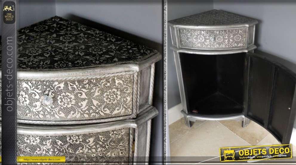 encoignure basse finition style marocain. Black Bedroom Furniture Sets. Home Design Ideas