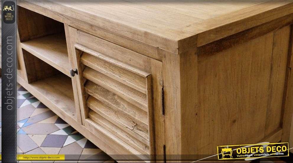 meuble tv de style rustique bois massif. Black Bedroom Furniture Sets. Home Design Ideas
