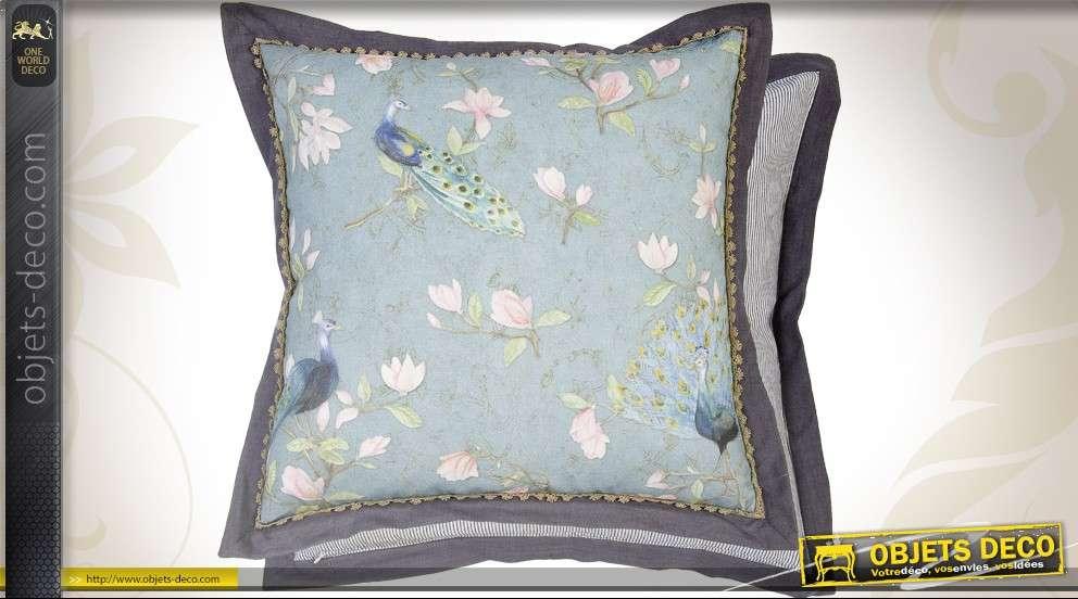 Housse De Coussin De Chaise En Coton Naturel De Style Vintage