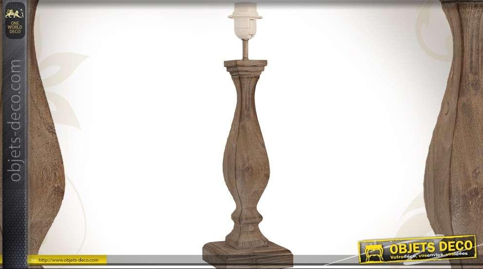 De En Pied Lampe Cm Balustre Forme Bois De 43 Massif 0m8wovnn