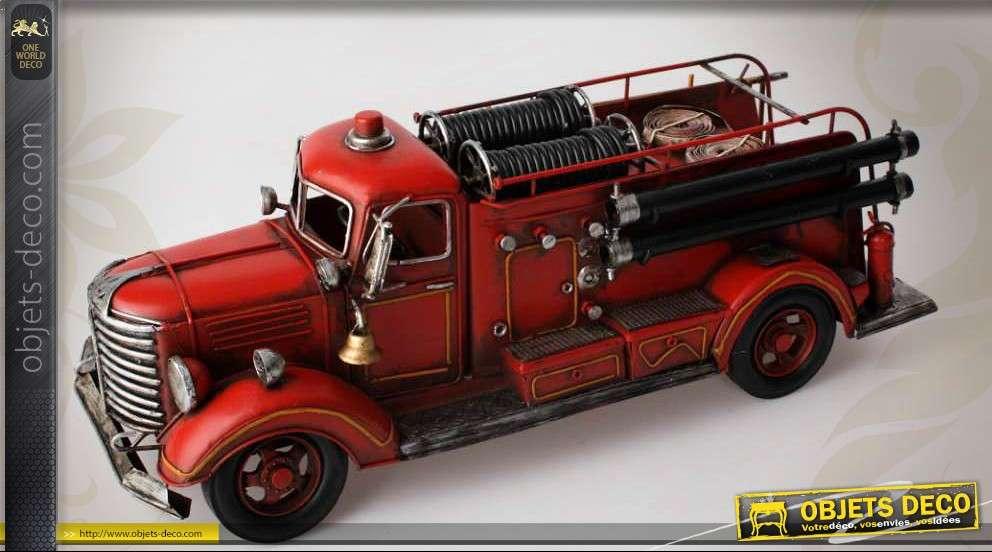 Véhicule Cm 45 Décoratif En Métal Pompiers Camion De sxrhQdBotC