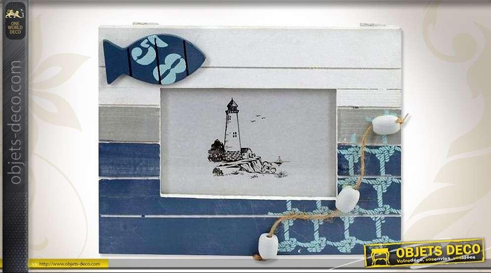 Cadre Photo Mural Horizontal Style Déco Marine 24 X 19 Cm