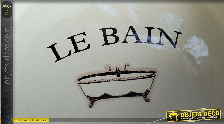 Bassine de salle de bain vintage avec son support rétro