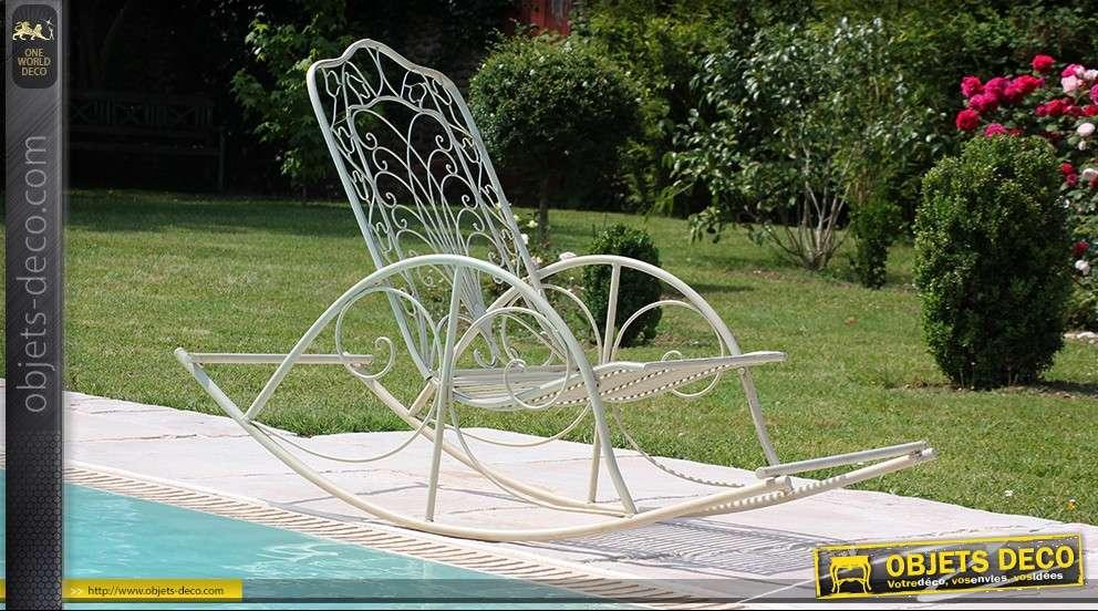 rocking chair en fer forg. Black Bedroom Furniture Sets. Home Design Ideas