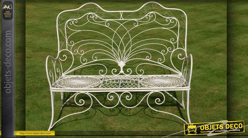 Banc de jardin en fer forg d co for Decoration de jardin en fer forge