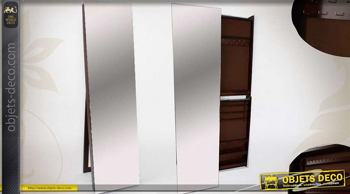 grand miroir psych design sur tr pied avec armoire bijoux. Black Bedroom Furniture Sets. Home Design Ideas