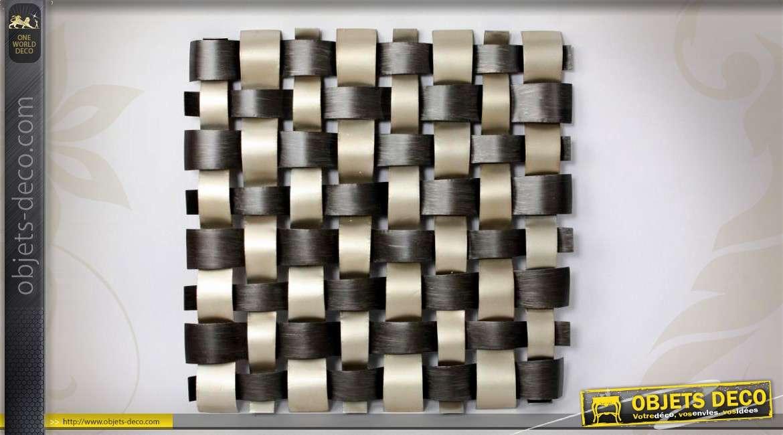 grande d coration murale de style moderne en tressage. Black Bedroom Furniture Sets. Home Design Ideas