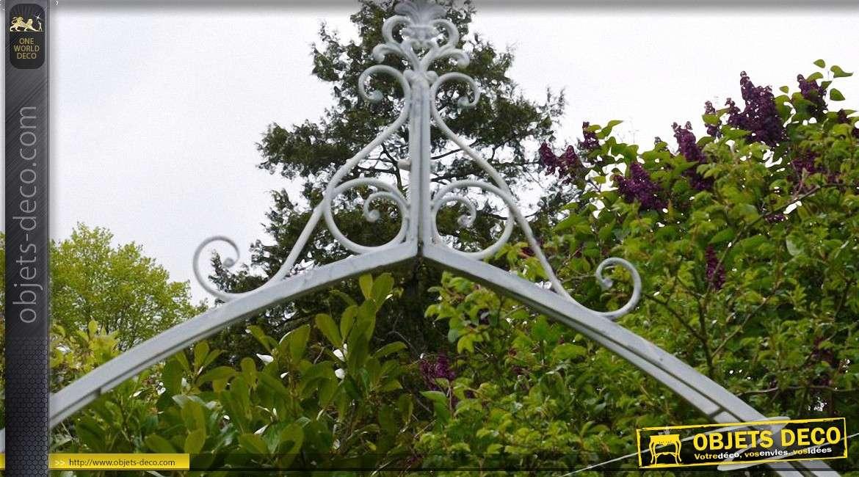 Arche décorative fer forgé et métal avec jardinières (2,6 mètres)