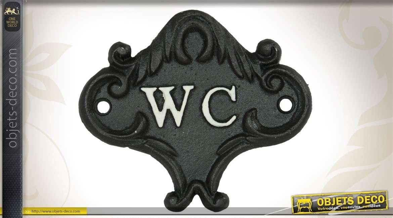Plaque de porte en métal pour wc