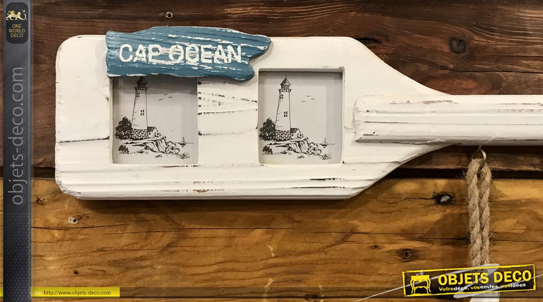 Porte-photos en forme de rame de bateau à trois vues