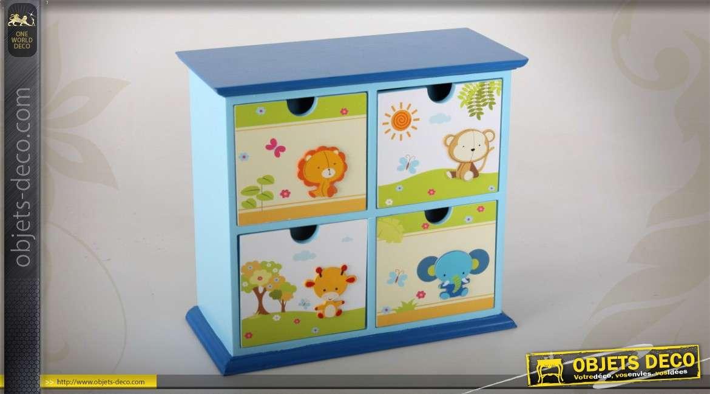 mini commode miniature 4 tiroirs pour chambre d 39 enfant. Black Bedroom Furniture Sets. Home Design Ideas