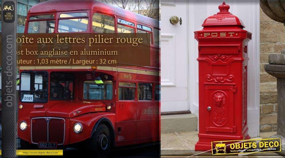 Bo te aux lettres uk pilier rouge - Boites aux lettres la poste ...