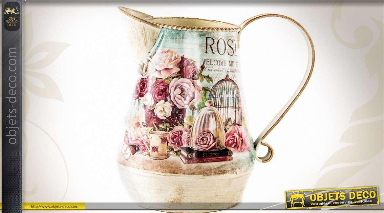 Cruche arrosoir d coration avec motifs fleuris et vintage - Deco printempsidees avec fleurs et motif floral ...