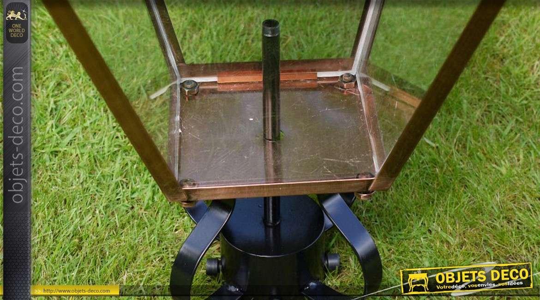 Haut de lanterne finition cuivre à éléctrifier 88 cm