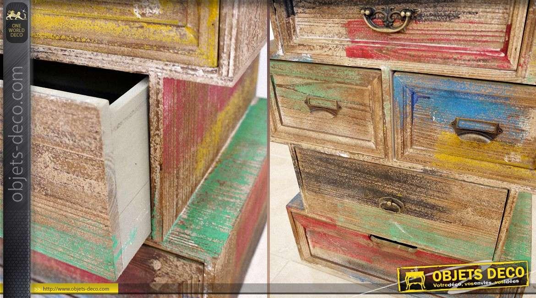 meuble tiroirs de style brocante et r cup ration 5 tiroirs. Black Bedroom Furniture Sets. Home Design Ideas