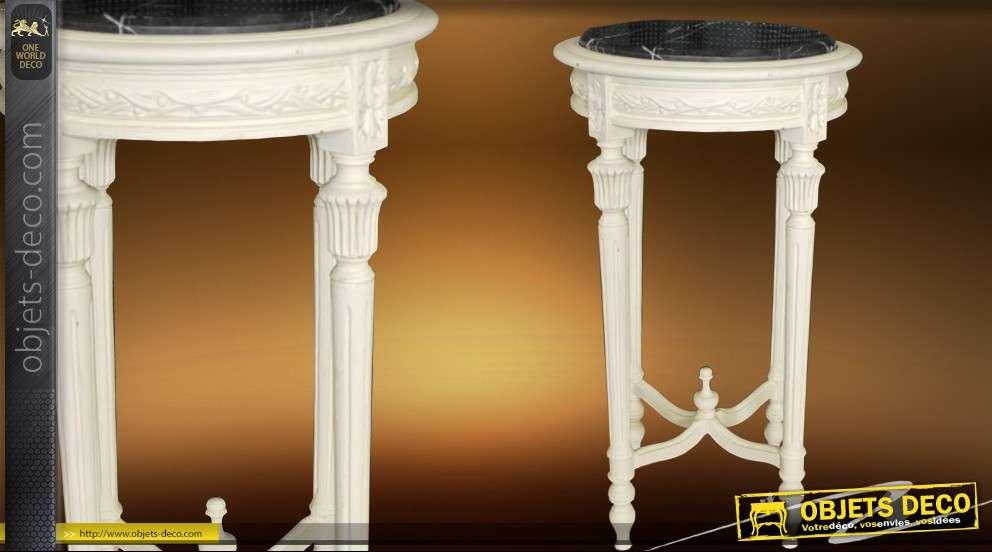 Table d corative ronde plateau marbre - Table ronde plateau marbre ...