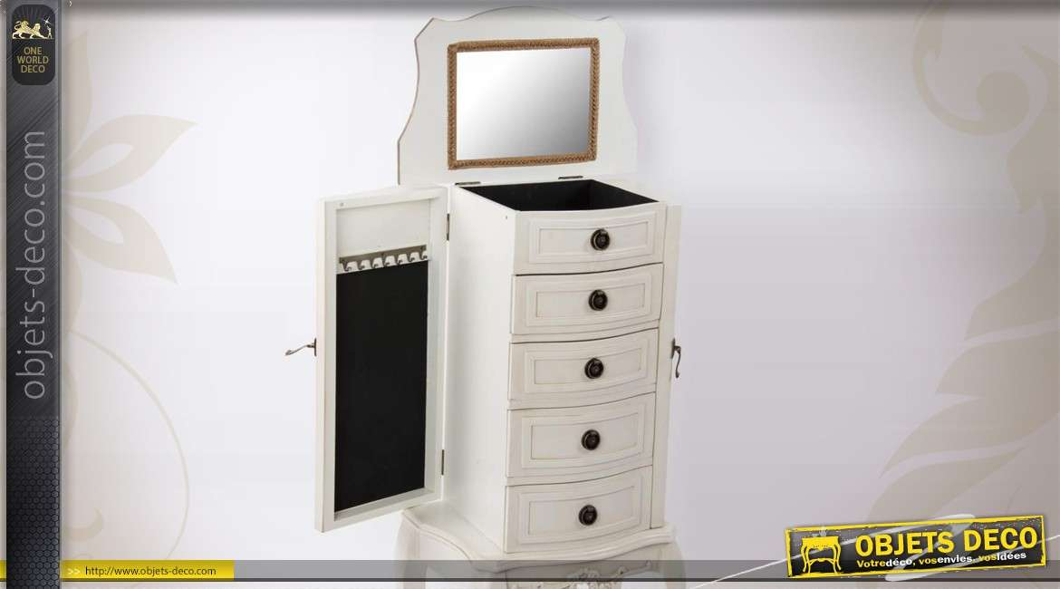 meuble bijoux compartiment avec miroir. Black Bedroom Furniture Sets. Home Design Ideas