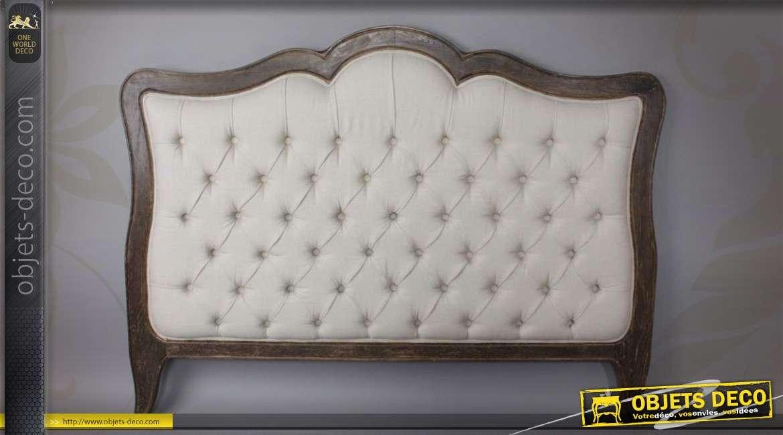 t te de lit capitonn e en lin cru. Black Bedroom Furniture Sets. Home Design Ideas