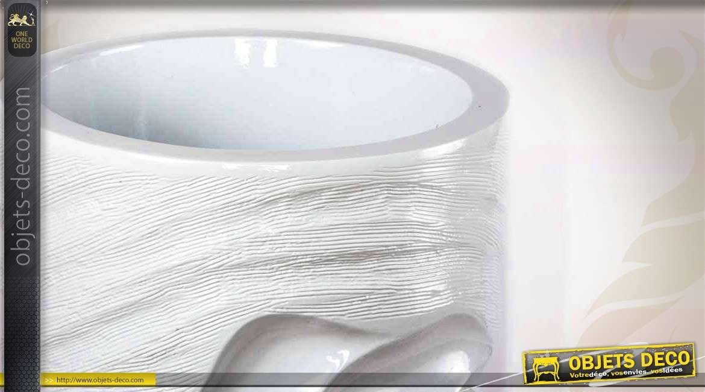 grand vase en fibre de verre style moderne coloris blanc 86 cm. Black Bedroom Furniture Sets. Home Design Ideas