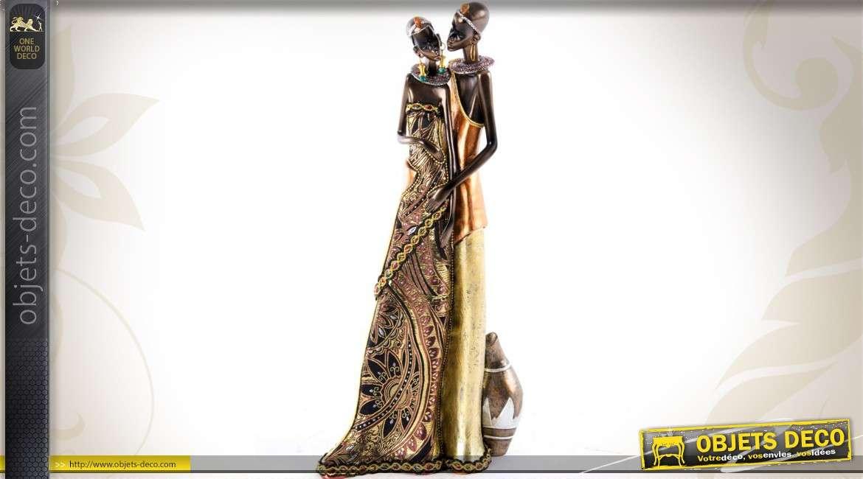 statue africaine en resine