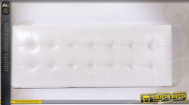 t te de lit en tissu capitonn coloris pourpre 151 cm. Black Bedroom Furniture Sets. Home Design Ideas