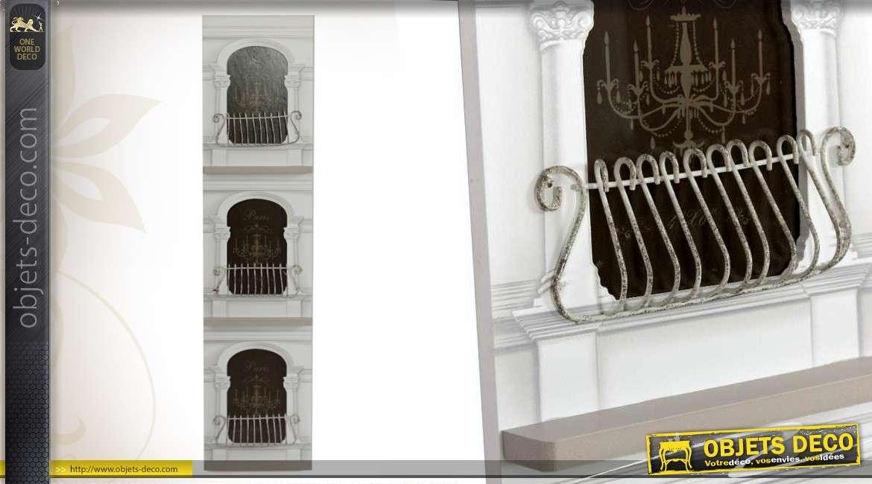 Cadre multiphotos de style baroque trois vues 66 cm - Pele mele style industriel ...