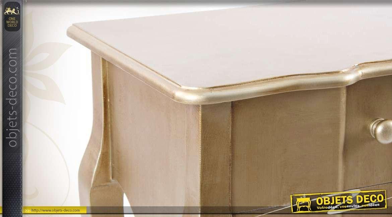 Chevet À De Platine Finition Table Rétro L'ancienne Coloris jAq5RL34