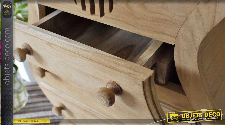 chiffonnier original en forme de contrebasse en bois massif. Black Bedroom Furniture Sets. Home Design Ideas