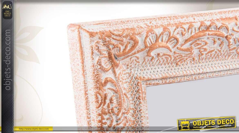 cadre photo romantique blanc et cuivre effet vieilli. Black Bedroom Furniture Sets. Home Design Ideas