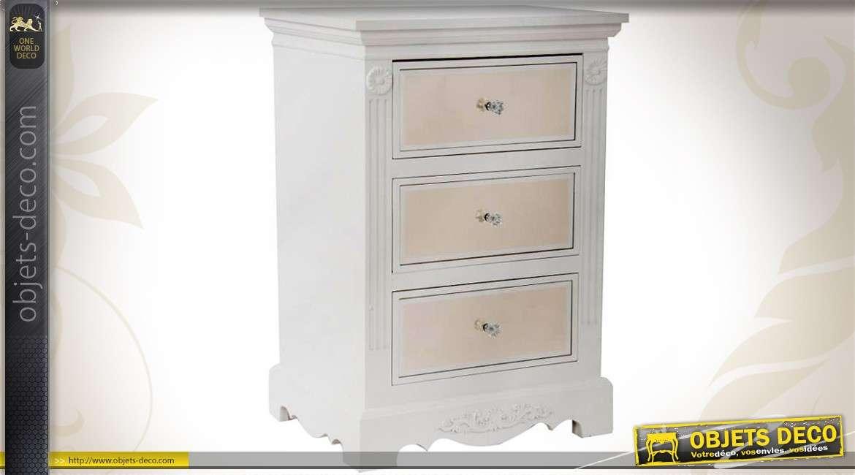 table de chevet style cottage fa ades de tiroirs en miroirs. Black Bedroom Furniture Sets. Home Design Ideas