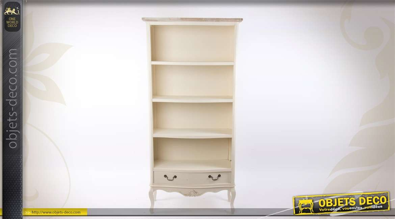 biblioth que de style campagne chic cr me. Black Bedroom Furniture Sets. Home Design Ideas