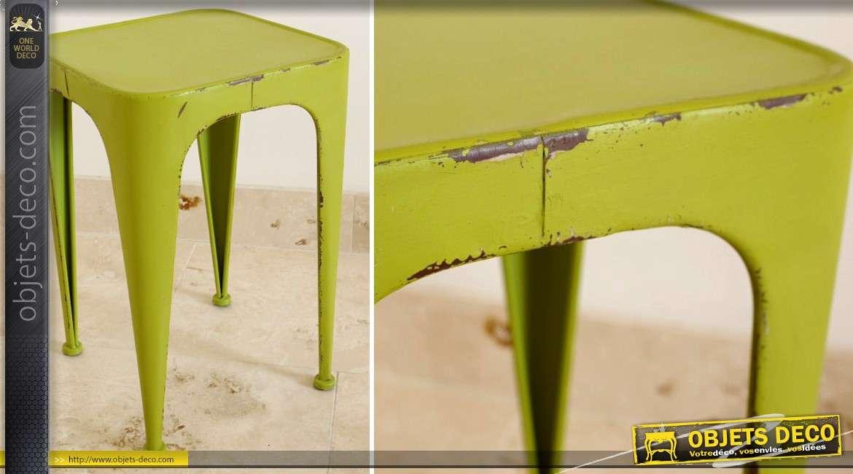 De Métal En Tabouret Coloris Vert Pomme Rétro Style Industriel tsQrdChx