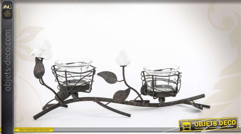 porte bougies d coratif en m tal de style campagne. Black Bedroom Furniture Sets. Home Design Ideas