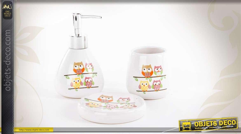 Set de 3 accessoires pour salle de bain for Set de salle de bain