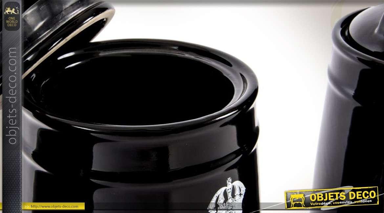Ensemble de 3 pots d coratifs pour sucre th et caf for Objets decoratifs pour cuisine