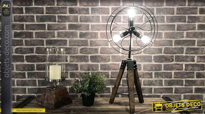 Lampe de style industriel en forme de ventilateur rétro 64 cm