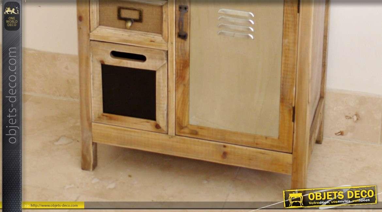 meuble tiroirs style industriel et r tro 15 zones de rangement. Black Bedroom Furniture Sets. Home Design Ideas