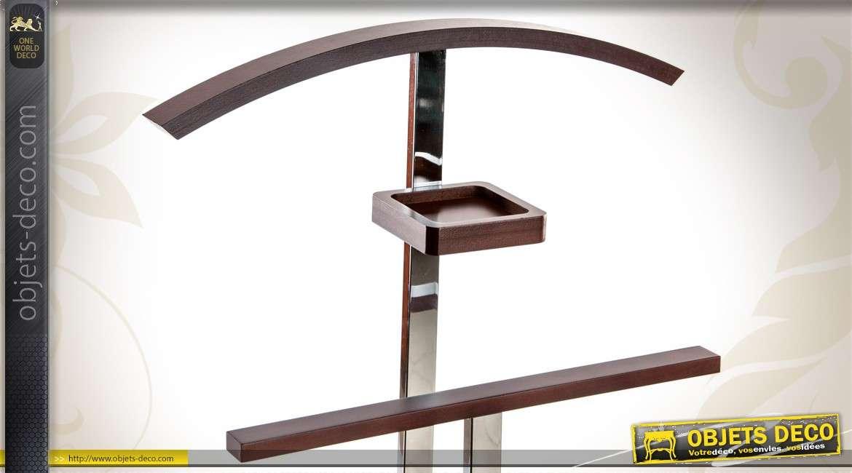 Valet de chambre design en métal et bois