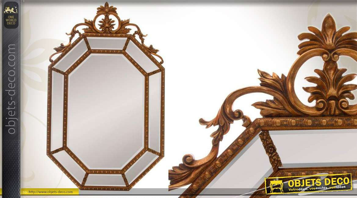 miroir psych armoire bijoux brun antiquaire fa ade motifs. Black Bedroom Furniture Sets. Home Design Ideas