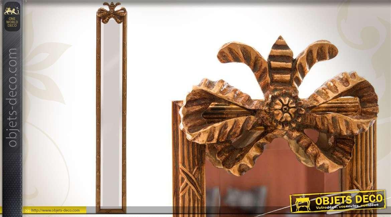 Miroir dor de style ancien 1 25 m for Miroir mural vertical