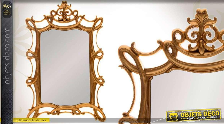 Miroir de style n o baroque encadrement ajour et dor for Grand miroir mural baroque