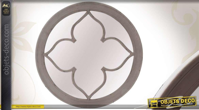 miroir fen tre inspiration gothique coloris noir. Black Bedroom Furniture Sets. Home Design Ideas