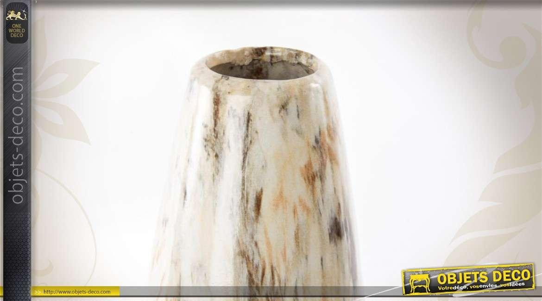 vase en c ramique imitation marbre. Black Bedroom Furniture Sets. Home Design Ideas