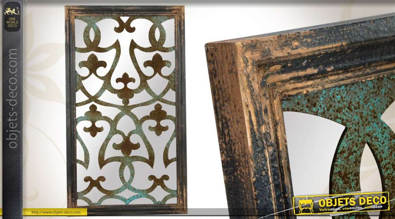 miroir mural de style r cup 39 et brocante vert antique 116 cm. Black Bedroom Furniture Sets. Home Design Ideas