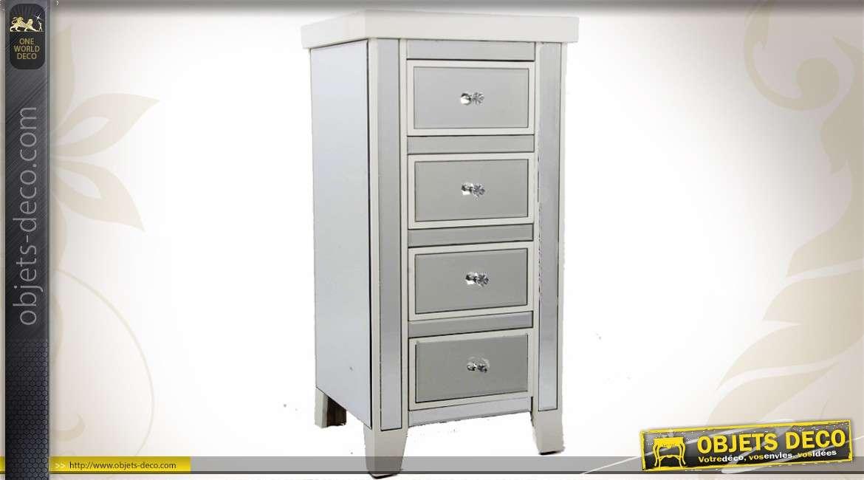 chiffonnier de style v nitien en miroirs 4 tiroirs. Black Bedroom Furniture Sets. Home Design Ideas